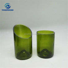 Glass wine bottle cutting cups candle bottles, wholesale cutting bottle candle jar