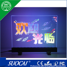2015 low price LED WRITING BOARD customized for christmas changeable magical led menu board