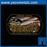 custom cheap military coin tag, with design draft