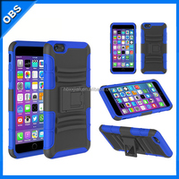 silicone TPU PC 3 in 1 armor design mobile phone case with stander for iphone6 (OBS-PG6-6026)