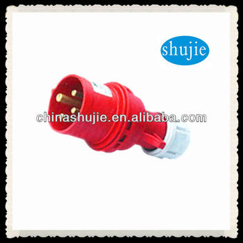 cixi shujie 220V 4-pin rubber waterproof Industrial socket