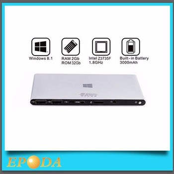Fanless Portable Intel Atom Z3735F HD 1080p Battery Powered Windows Mini PC X86