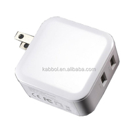 4.8A 2 Port USB Plug Charger fast battery charger with Foldable Plug for iPhone, iPad, Samsung, HTC