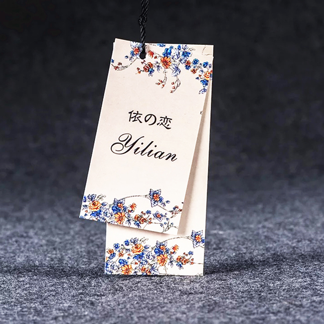 luxury paper garment hang tags for lingerie