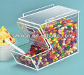 Stackable Topping Acrylic Dispenser with Magnetic Lid