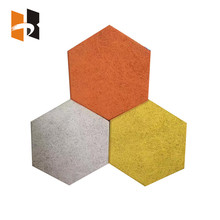 Hexagon wood fiber sound proofing acoustic panel