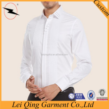 2016 newest designs pure long sleeve stylish party wear shirts for men