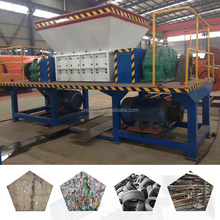 Twin shaft car tyers shredder rubber recycling machine with factory price
