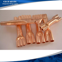 air conditioning and Refrigeration parts accessories /Pants tee pipe fittings/copper flattening tee