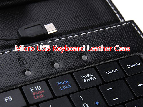 "Micro USB 9inch keyboard case with Russian/poland/spain/Portuguese/Multi-lingual for 9"" tablet pc"