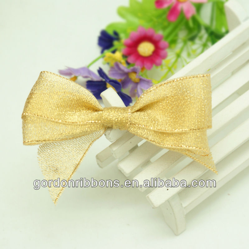 Gold Colorful Metallic Ribbon bow