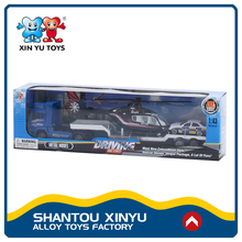 China 2017 new product 1:43 toy moving truck with mini alloy cars
