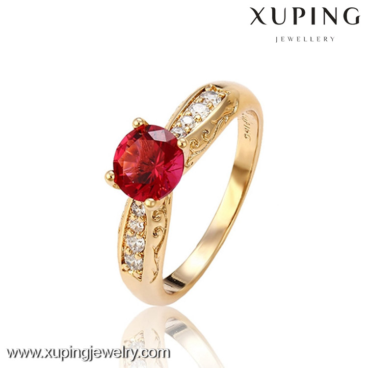 13050 Gold plating 18k gold color beautiful finger ring