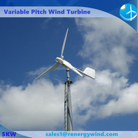 Rooftop small size 5000w horizontal axis wind turbine