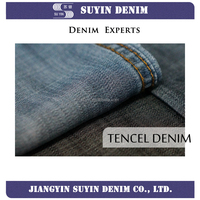 100% tencel yarn dyed denim fabric with soft feature