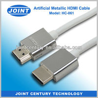1.4V High speed artificial metal hdmi cable support ethernet, 3d, 1080p for hdtv