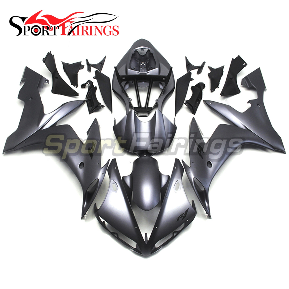 Full Fairings For Yamaha YZF <strong>R1</strong> 04 05 06 ABS Plastic Injection Motorcycle Fairing Kit Body Kits Flat Black