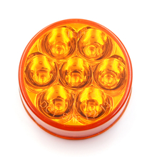 Sealed Waterproof 2 Inch Amber Led drl Turn Signal Light