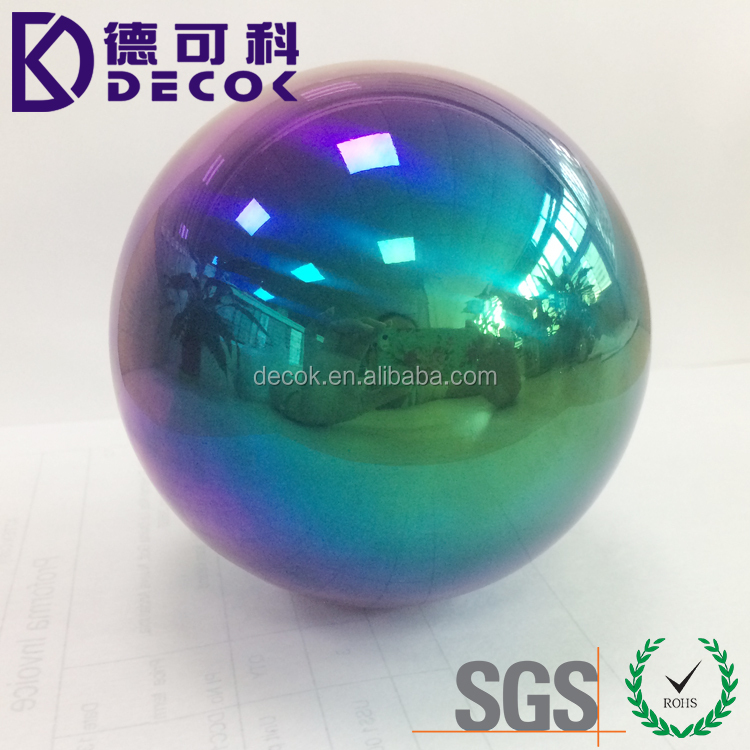 "Mirror polished gazing rainbow ball 36"" giant metal hollow sphere"
