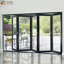 Custom low price aluminium bi fold door energy efficient folding doors bi-fold slide door