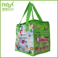 school kids insulated cooler bag fabric material non woven colorful printing