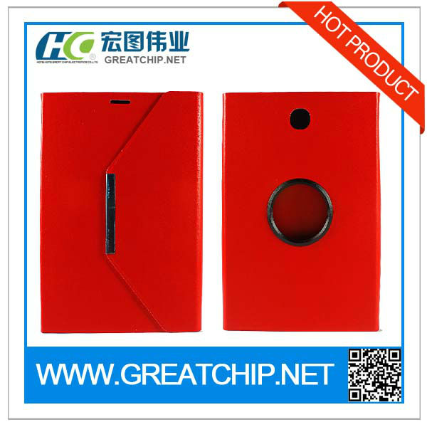 RED 360 degree rotation Leather Case cover for Samsung Galaxy Note8 N5100 Tablet Case