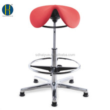 An Attractive Red YIDAR Fabric Office Saddle Shape Rubber Feet Chair with Footrest