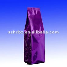 widely use aluminum foil bag with one way-valve for packaging
