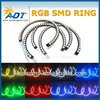 E46 131mm 146mm RGB LED Angel Eyes Halo Ring, Color changing Angel Eyes for BMW,with CE E-mark Strobe Lights for BMW E46