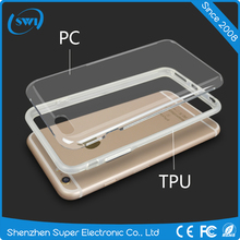 Clear PC back Case Soft TPU bumper Cover for iphone 6 6S