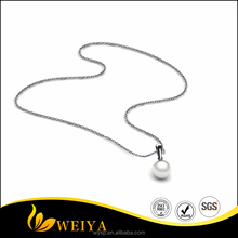 Trendy elegant women jewelry fashion necklaces pearl jewelry with stainless steel chains