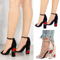 ZH0924H High Quality Women Sexy Stiletto Pumps Embroidery High Heels
