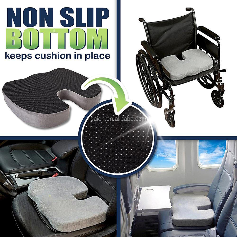 Easy handle anti slip good support car coccyx orthopedic seat cushion for adult