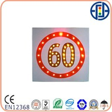 600*600 mm 60 Solar LED speed limit sign