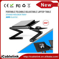 "Office Smart Tables Adjustable Folding Ventilated Laptop Notebook Tablets PC iPad Table up to 17"" / Portable Bed Tray"