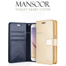Case smartphone for iphone 7, mansoor diary wallet case for Iphone 7 pro 100% original mercury goospery