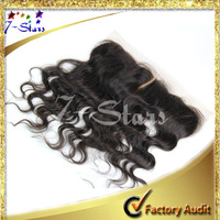 Peruvian Body Wave 100% Virgin Human Hair Top lace front closure piece