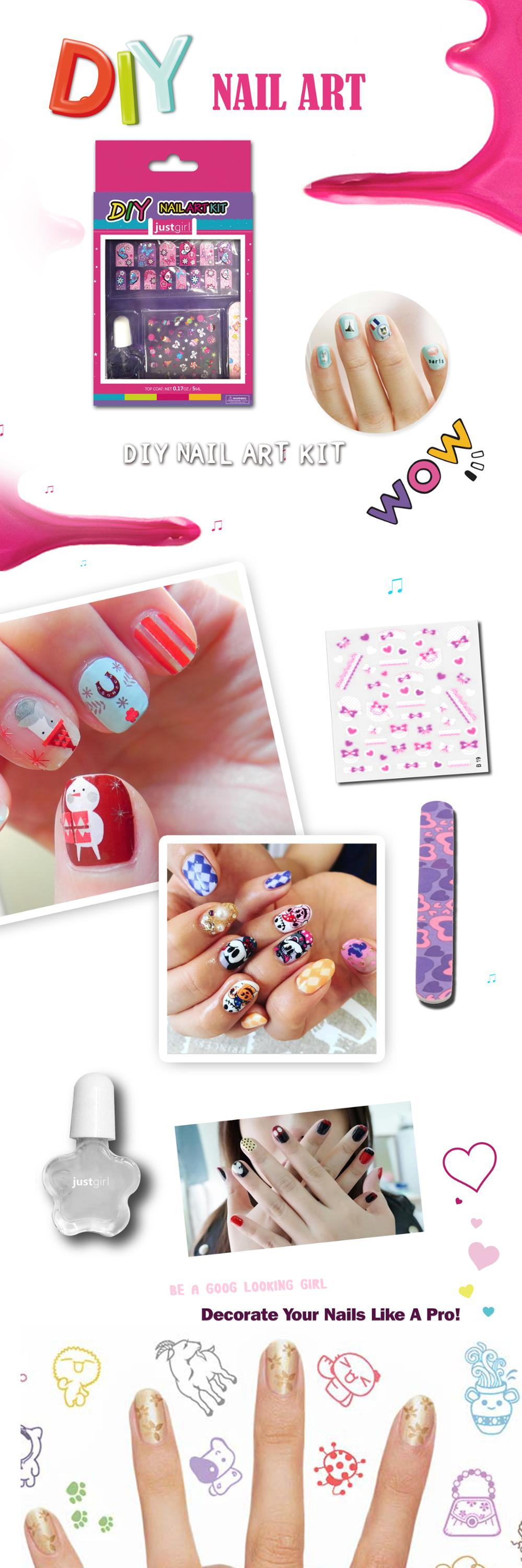 Diy Your Nails Easy Application Safe Nail Art Decoration Kit Buy