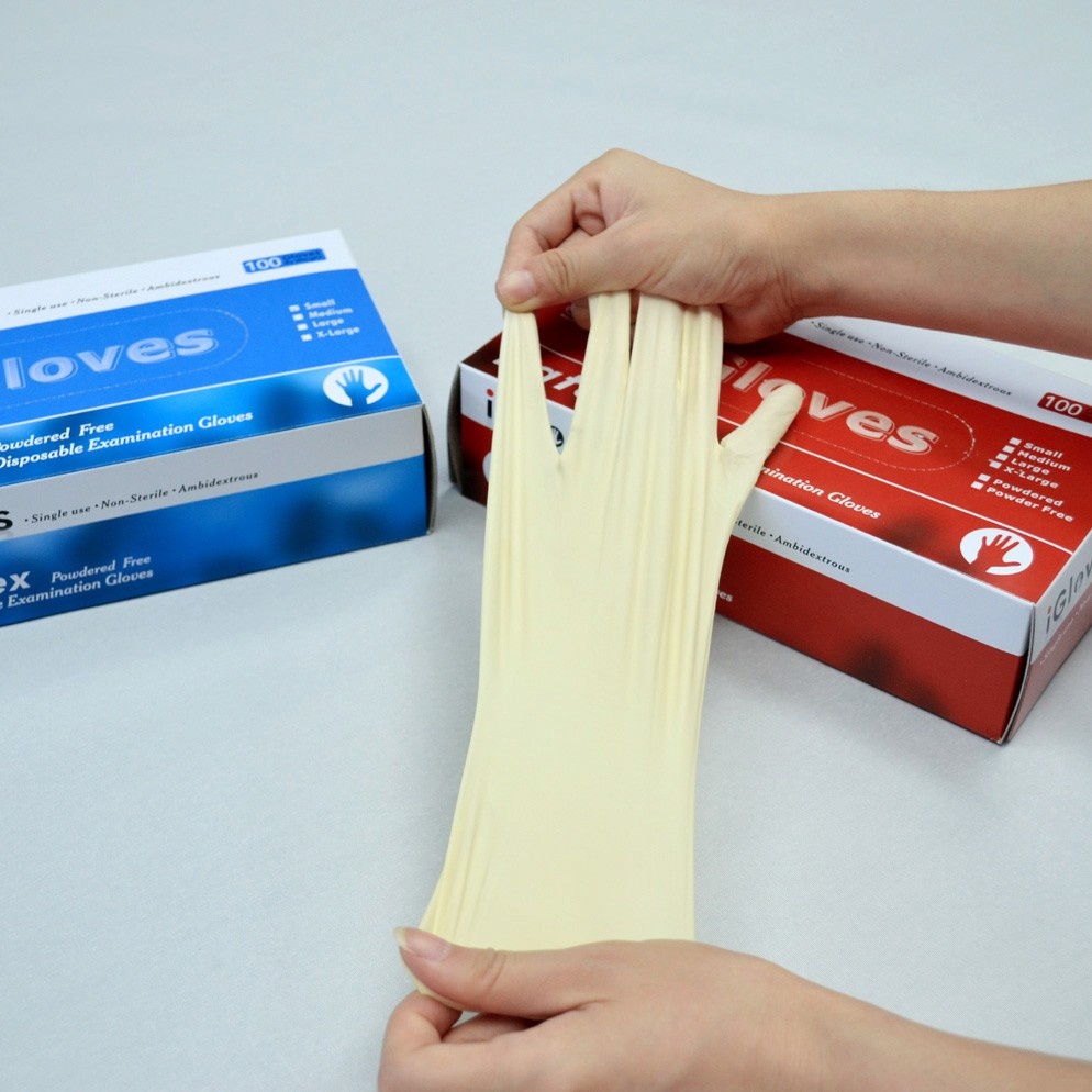 newly disposable latex surgical gloves/latex examination gloves