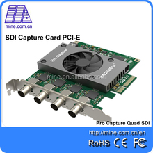Av/dv Capture Card SDI 4 CHANNELS Video Grabber Express Card With SDI Out Video Capture Grabber