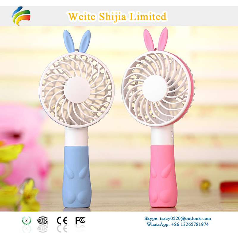 Cartoon Rechargeable Mini Hand-held Fan