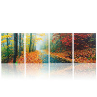 Multi-Panel Canvas Prints Wall Decoration Ideas,4 Pieces Canvas Painting Cityscape