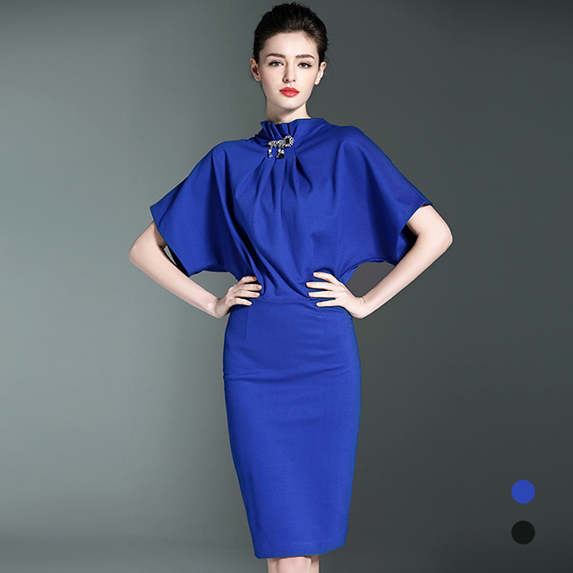 wholesale high quality chinese women dress short bat sleeve wrap formal lady elegant evening dress