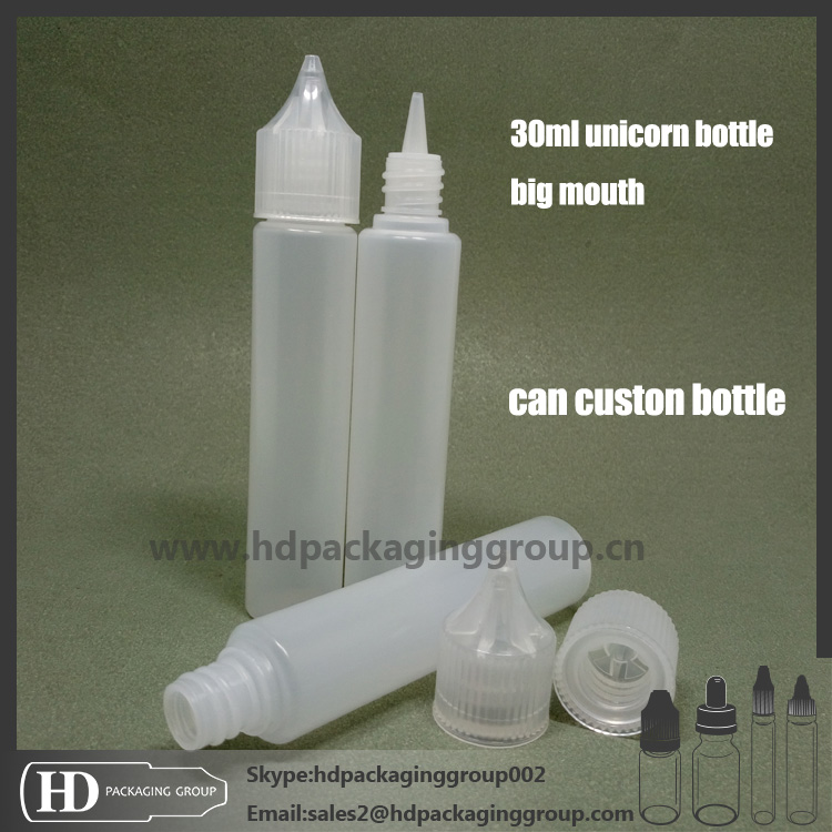 HD new e juice childproof cap e liquid 30ml unicorn dropper bottles