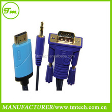 HD 1080P Conversion Cable HDMI to VGA splitter cable and Audio Converter cable for mac