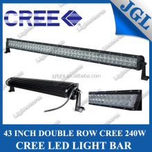 "240w 43"" off road led light bar, auto vehicle cree roof led light bars, 4x4 offroad led light bar with clear/yellow/blue cover"