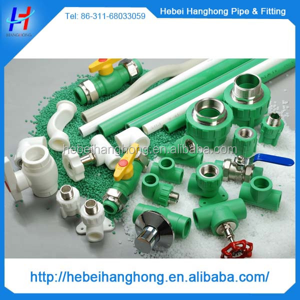 all types of ppr pipe fittings for hot water heating system