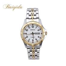 Brand diamond simple antique classic quartz stainless steel back watch