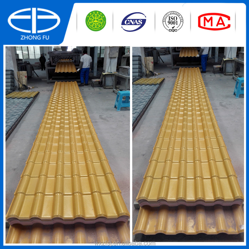 insulation and corrosion-resistant ASA synthetic resin roof tiles,PVC roof sheets with superior performance