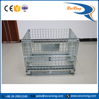 high quality collapsible metal wire mesh basket/cage/waste container